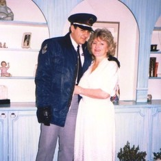 Sally poses proudly beside her son Michael. This photo was taken around 1985 when Michael was working in security to pay for part of his undergraduate education.