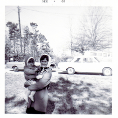 Sarah and Martha at St. George Road, December 1968