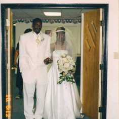 Wedding Day 2003 with brother, Jeral