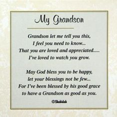 Poem to my grandson for 21st birthday