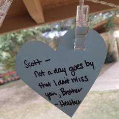 11-14-2020, Heather ran 5k for Suicide Awareness in memory of you.