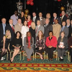 Scott Jay 2nd Row Center. Hall of Fame Luncheon 2010. To enlarge photo-double click photo on right margin of home page.