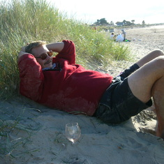 Chilling on Burrow beach 2005