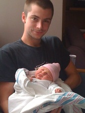 Daddy and newborn Kir