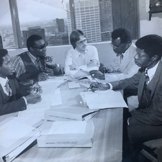 Sam Kolawole, Seyi, Sam Oshiyoye and Joe Uwagba training at Detroit Office - May 1980