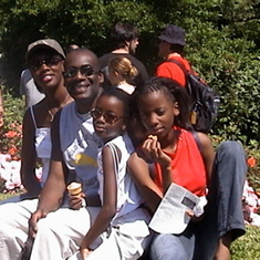 With family at Butchart garden, Victoria, British Columbia