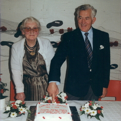 Betty and Charles celebrate their ruby wedding anniversary, 40 years.