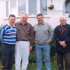 On the left Charles's son Noel, centre left a good friend from Holland Arie Kleijne, centre right Charles's son Joseph and Charles on the right.