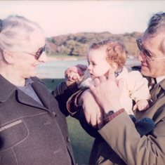 Betty and Charles with their first grandchild Eleanor.