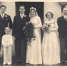 Charles and Betty marry at Kenfig Hill, South Wales in 1951.