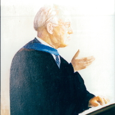 A portrait of Dr Martin Lloyd Jones, one of Charles's favourite preachers.