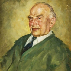 This is an oil painting of Mr John Evans who died age 112, the oldest man in the world at the time. Charles met him and painted him in 1987. The portrait is now held at the Swansea Museum.