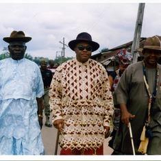 Shawcross Moore (middle), Chief Obii C.N Obioha (right)