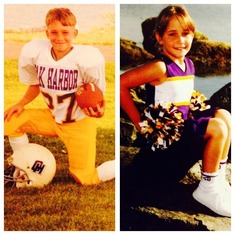 He was the football star and his sister was the head cheerleader