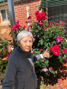 Grandma with her flowers