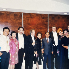 After Opera Don Carlo in Shanghai with the cast, conductor John Nelson and Madame Zhou