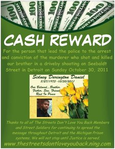 cash reward for sidney