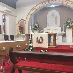 This is the alter of the RC Church in Fremantle Australia.  There is a large community of Croatians from Dalmatia living there.