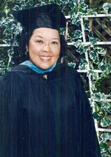 Getting her master's degree from Cal State East Bay, Hayward, California