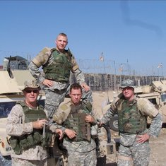 BEN IN IRAQ WITH SGT JOHNSON
