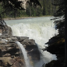 Athabasca Waterfalls, Stacey's favorite waterfalls