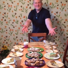 "Stephen""s Ebelskiver and quiche feast- PERFECTION! November 27th 2015"