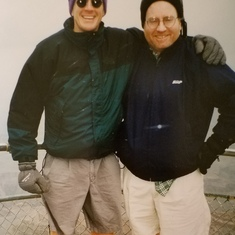 Grand Canyon w Pomona College friend, Scott, 1996