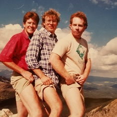 Tan line pose by the fellows fr Pomona college, Santa Fe, NM 1990