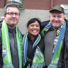 2010 Seattle visit - Sounders pre-game