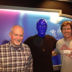 Stephen and Scott slumming with Blue Man in Vegas circa 2015.  We laughed a lot on that trip.