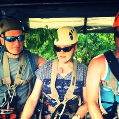 Zip lining in the jungles of the Dominican. Such amazing memories made.