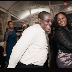 Sterling at Ja'Kari & Velvet wedding getting down on the dance floor!!