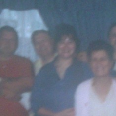 The Family steve is the first on the left Chris sharon Mum and Me