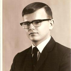 1966 Steve High School Graduation Photo
