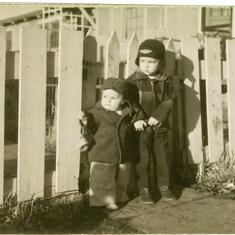 Steve (left) and Jim 1949?