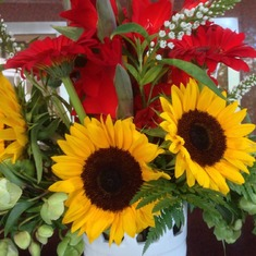 ♥Beautiful sunflowers taken on August 23, 2016♥ You will forever be in our hearts♥