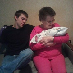 GRANDMA ME AND SKYLER WHEN HE WAS BORN!