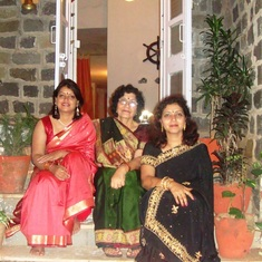With maa and Anu on Diwali 2010 at Pune