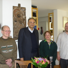 Tapan with Professor Asko Parpola, discussing Indus scripts and Sindhology (Helsinki 2011)