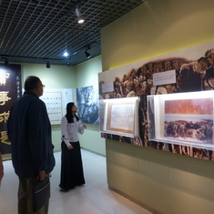 At a history museum in China, 2014