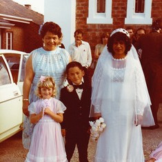 Nan with mum on her wedding day