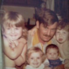 My daddy with all 4 of us kids