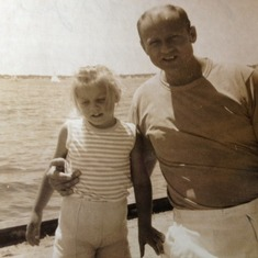 dad and barb toms river NJ bay