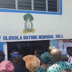 Commissioning of the Hall names after him at Aisegba Community Grammar Schoom