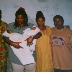 Aunty Therese with Vero, Abunoh, Sis Irene and Akwe twins Yaounde Dec 1997