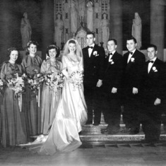 The wedding party, October 20, 1951