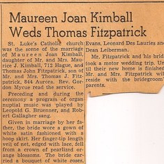 1951.10.23c - press clipping of wedding