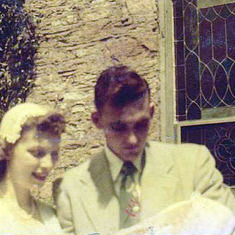 Peggy's baptism, July 1952