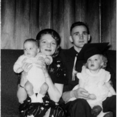 1954.03.17 - Ag College-graduate Tom with Rena, Mark and Peggy