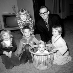 Iconic pic of Kevin in the basket, November 1960